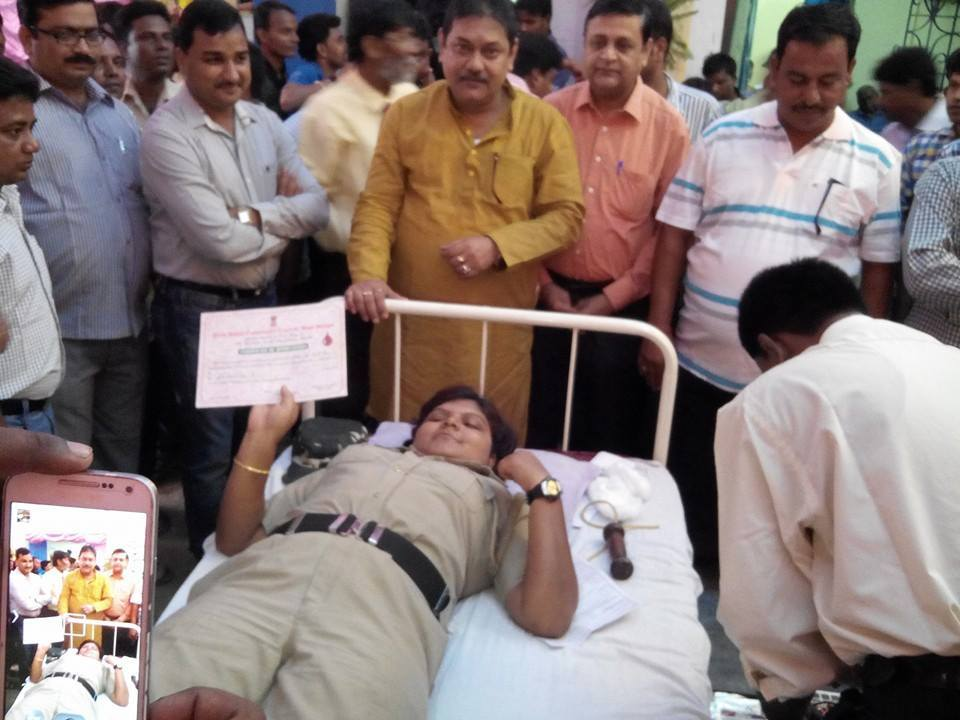 VOLUNTARY BLOOD DONATION CAMP & CLOTH DISTRIBUTION