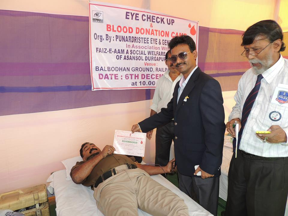 EYE CHECK-UP & BLOOD DONATION CAMP AT ASANSOL NORTH PS