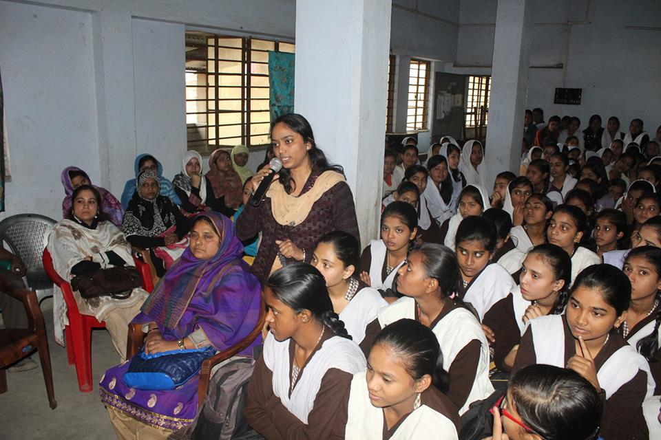 An Interaction Cum Felicitation Programme organised by Raniganj Ps at Anjuman Girls High School on 14.01.2016.