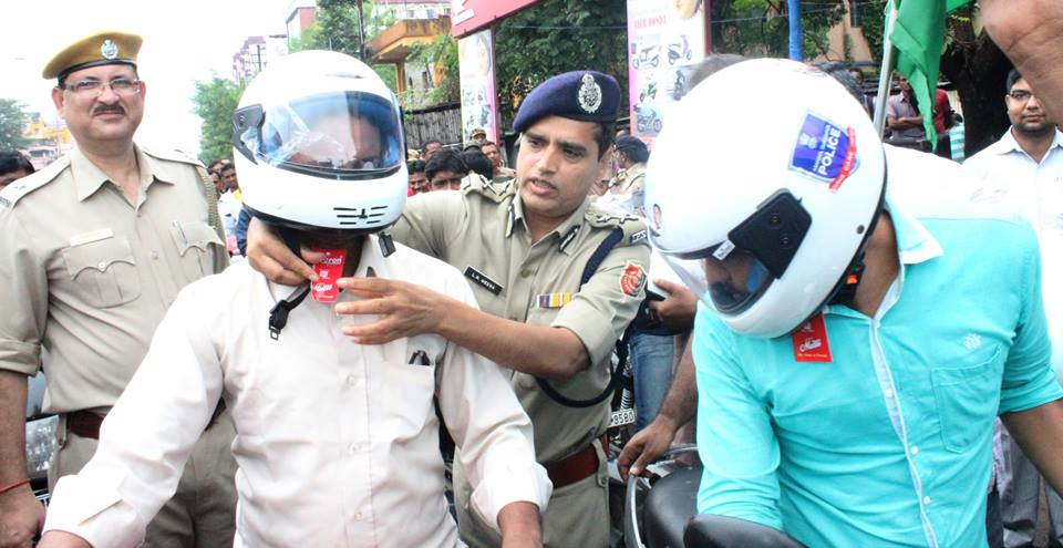 A Helmet Distribution Programme Organized By Hirapur PS ADPC under Safe Drive Save Life Campaigning on 05.09.2016 .
