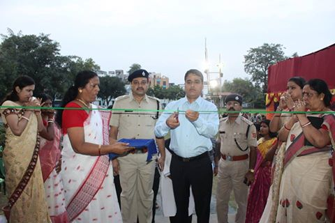 Opening Ceremony of Asansol Durgapur Police Commissionerate Durgapuja at Asansol Police Line on 06.10.2016