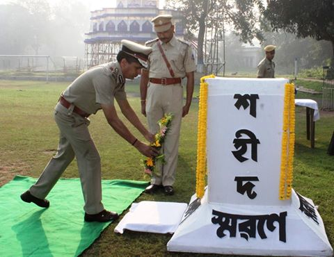 Commemoration Day Celebrate at Asansol Durgapur Police Commissionerate on 21st Oct, 2016.