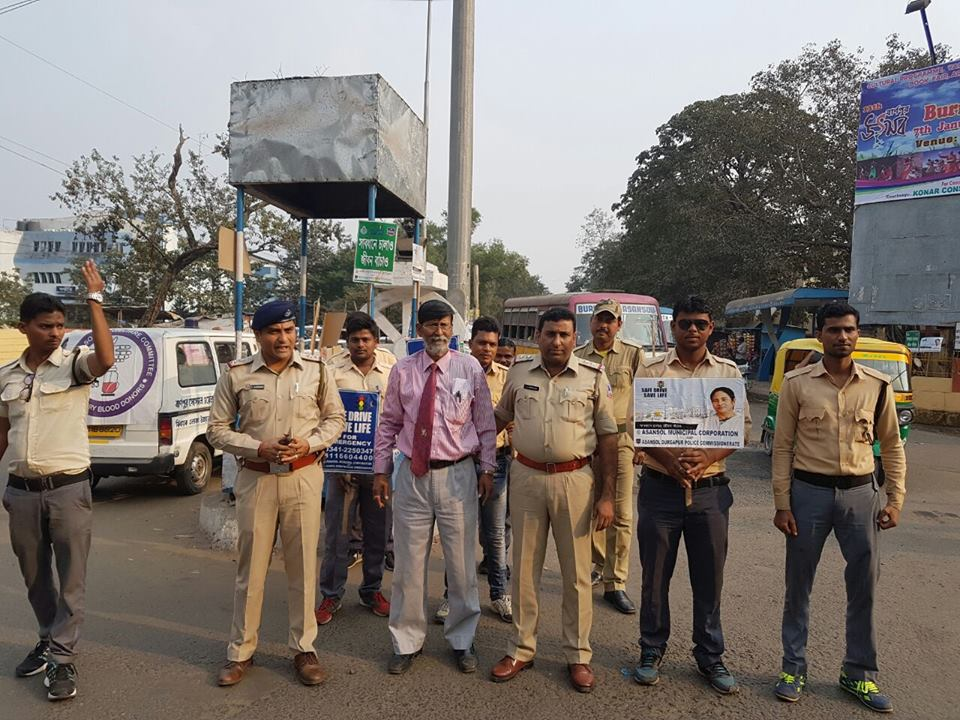 One Safe Drive Save Life Programme organised by Hirapur PS at Tribeni More Burnpur on 30.11.2016