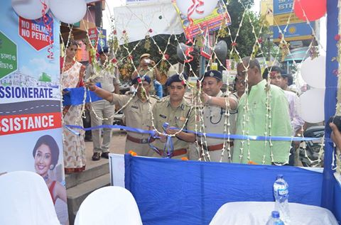 Police Assistance Booth opening by Commissioner of Police, Asansol Durgapur at Court More, Asansol on 05.10.2016.