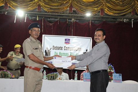 Debate Competition on Human Rights 2016 held at Asansol Police Lines, Sarat Manch, on for and against the motion on