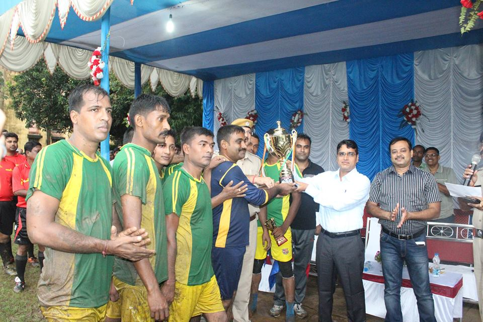 Football Final Match of Asansol Durgapur Police Commissionerate Zonal team held on 06.09.2016 at Asansol Police Lines Football Ground between East Zone V/S Asansol head Quarter and the Winner is Asansol Head Quarter.