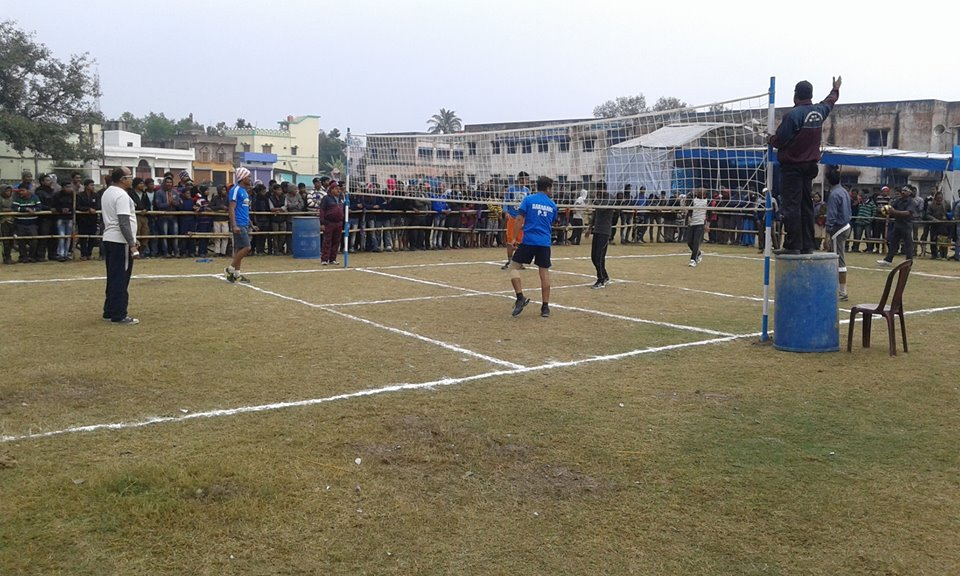 On 10.01.17 an one day knock-out volley ball tournament was held at Domohani-Kelejora School Ground under Barabani PS