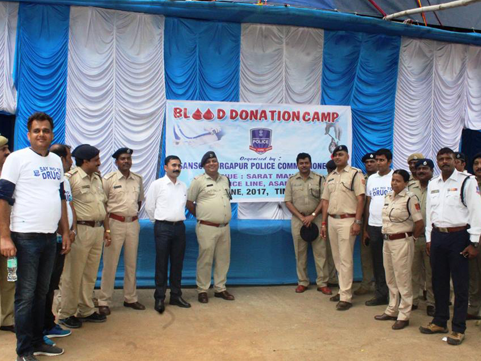 A Blood Donation camp organized by Asansol Durgapur Police on 27.06.2017