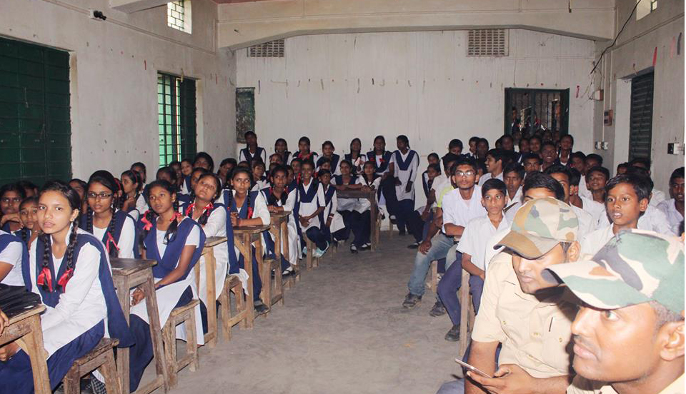 An Interaction Cum Felicitation Programme organised by Budbud PS Budbud Hindi School on 02.05.2017.
