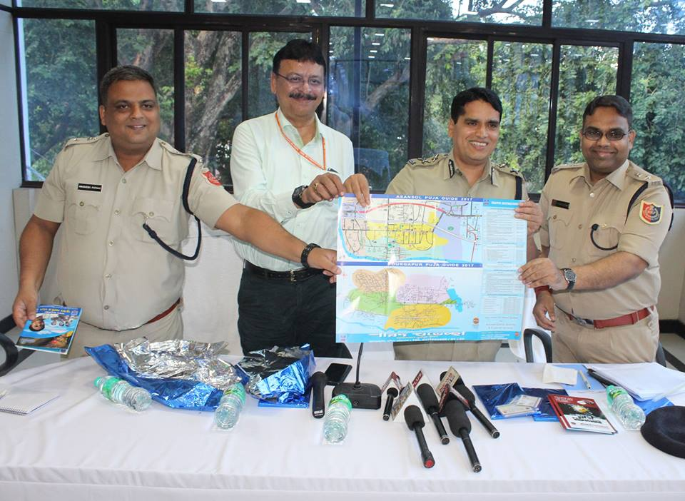 Puja Guide Map & Apps inaugurated by Commissioner of Police, Asansol Durgapur on 25.09.2017. It will be distributed through the Police Assistance Booth at different places under ADPC and Safety Guidance in Bengali also distributed from the Police Assistance Booth.