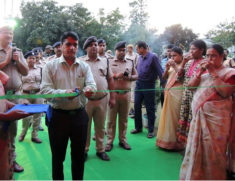 Opening Ceremony of Asansol Durgapur Police Commissionerate Kali Puja at Asansol Police Line on 19.10.2017
