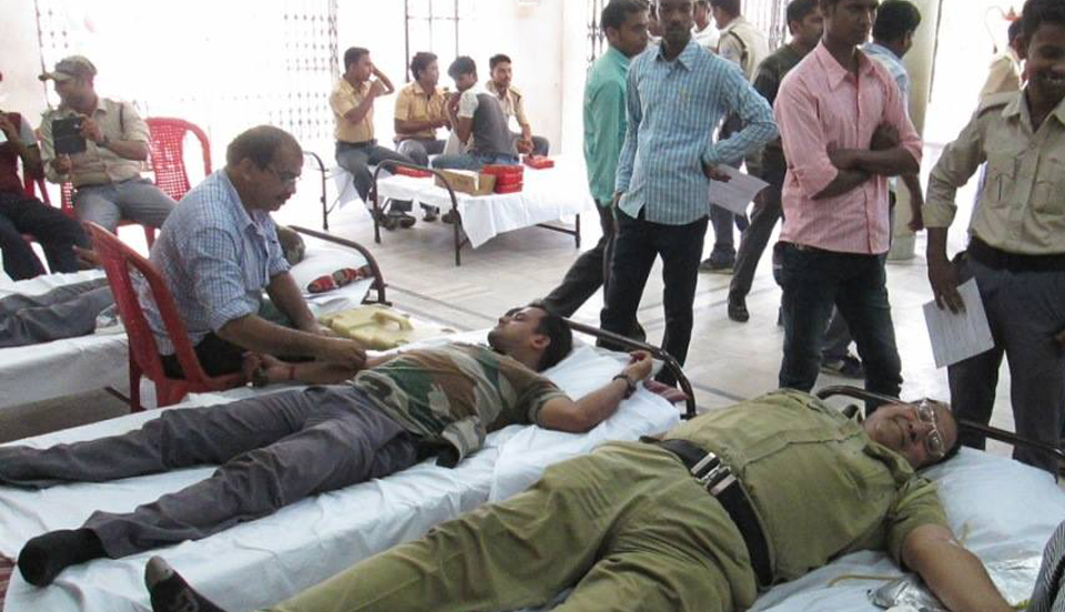 On 22.05.2017 Blood Donation Camp Organized by Jamuria PS at NAZRUL SATABARSIKI BHAVAN