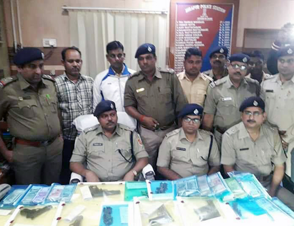On 20.11.17 Hirapur PS recovered 9 firearms , 782 rounds ammunition and Currency notes Rupees 8,26,000. U