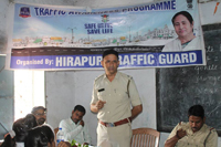 Traffic awareness programme organized by Hirapur Traffic Guard at Mahatma Gandhi School, Hirapur on 28.04.1