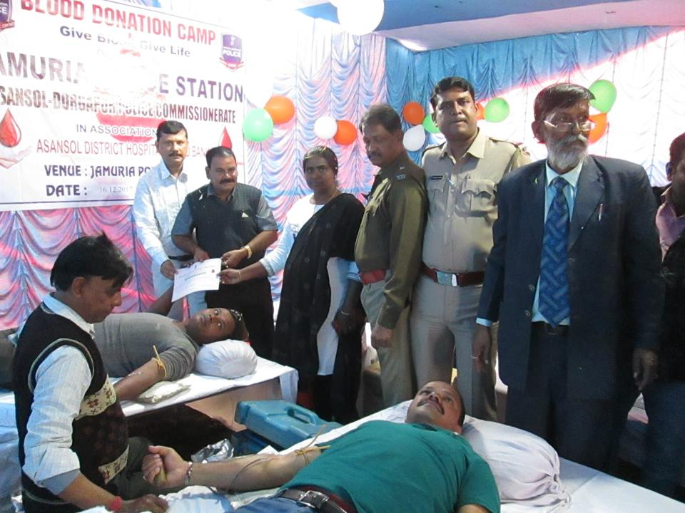 A Blood Donation camp organized by Jamuria PS