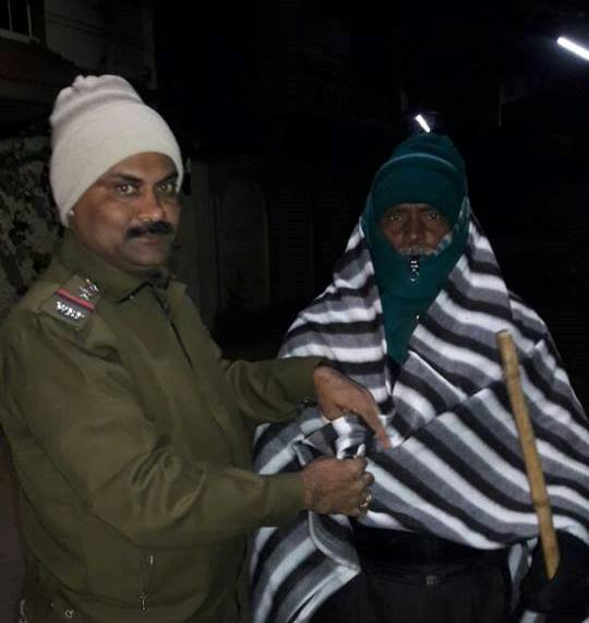Blankets Distribution was organised by Asansol South PS.