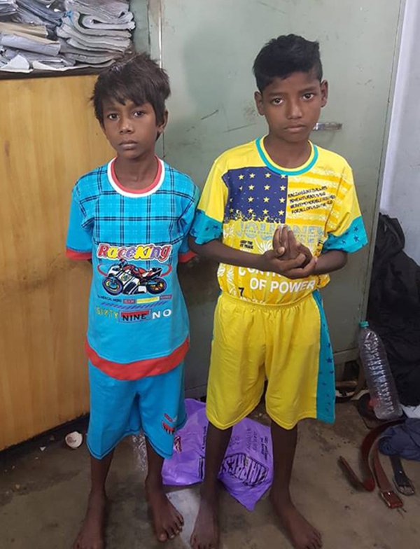 "On 06.07.2018 Two missing children namely as Prem Bagdi and Sujoy Bhattcharya (both age about 12 years) are recovered from Durgapur Railway Station on pursuance of Operation ""Ananda""with active participation of DD ADPC and after observing all formalities handover them to purbachal Ananda Foundation an organization founded by DMC to rehabilitate them."