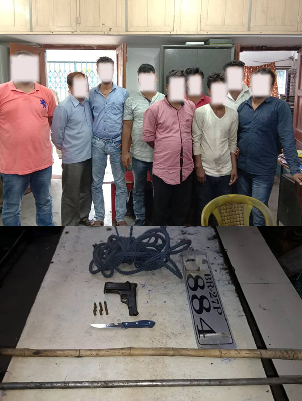 9 arrested & seized Arms & Ammu. by Neamatpur I/C,PS Kulti