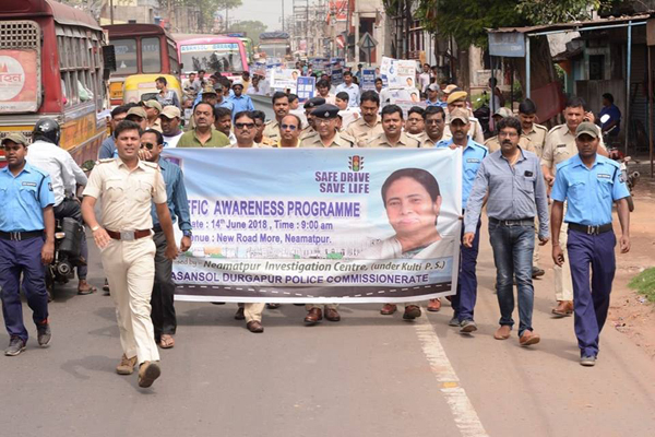 A Traffic Awareness Programme organised by Neamotpur IC