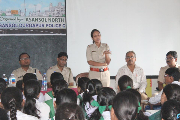 An Interaction Cum Felicitation Programme in c/w Safe Drive Save Life organised by Asansol North PS at Kalla Haripada High School on 23.07.2018.