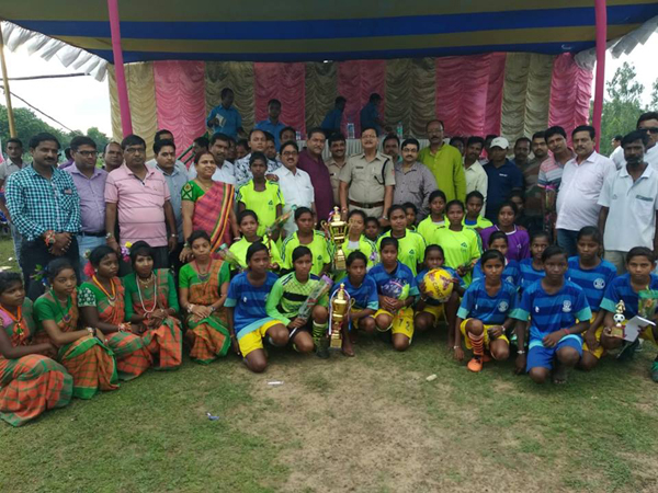 One day Women Knockout football tournament was organized by Pandevesrwar PS on 26.08.2018 at Shaamsundarpur GCC Math.