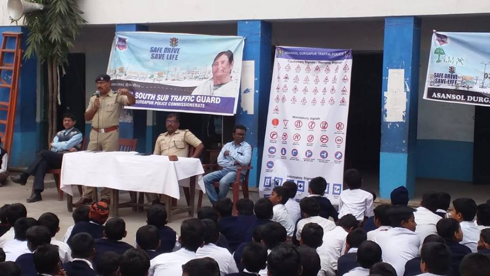 On 05.02.19 a Traffic awareness programme organized by Asansol South TG in c/w National Road Safety Week- 2019 at Chelidanga Boys High school Asansol.