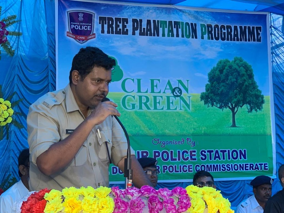 Today On 20.07.19 a Tree Plantation programme organised by Hirapur PS at Hirapur PS Compound distribution to the school students. In presence of DIG CISF, ADCP (West), ACP (West), CI Hirapur and other dignitaries.