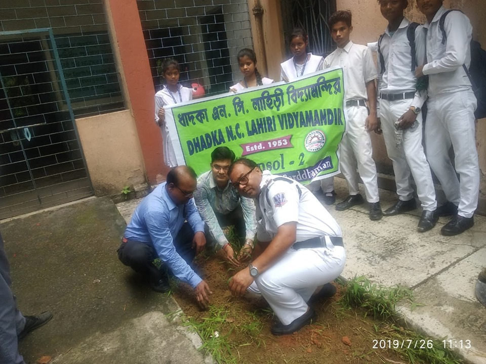 On 26.07.19 a Tree Plantation programme organised by Asansol North Traffic Guard at N.C. Lahiri High School, under Asansol North PS.