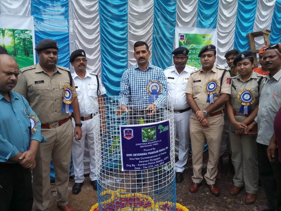 On 27.07.19 a Tree plantation Ceremony was observed at Kanksa PS through Tree plantation & , Cultural programme, Sit & Draw competition with Art Gallery & Prize distribution. In presence of Hon,ble Commissioner of Police, DCP (East), ACP (East), ACP Kanksa, ACP Traffic - III, Swami Atmananda Maharaj and other dignitaries.