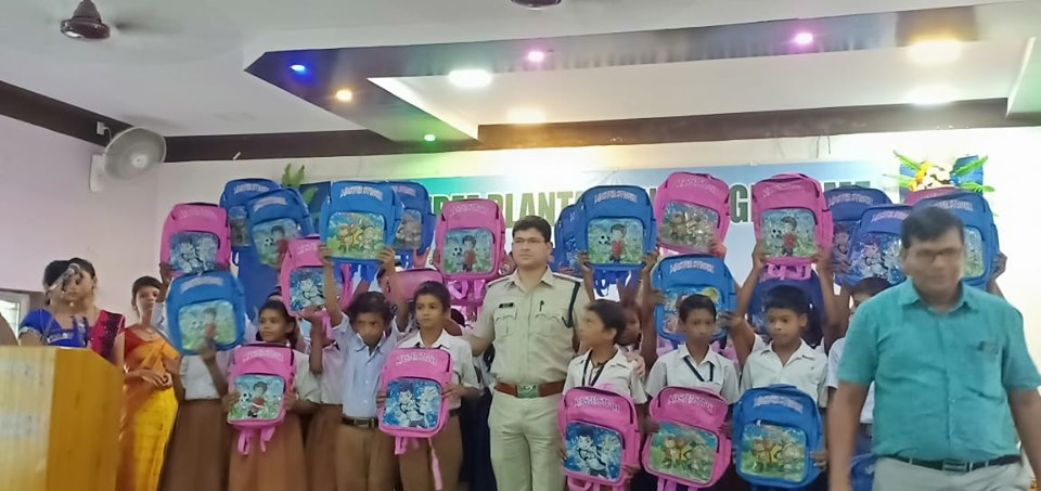 On 29.07.2019 Tree Plantation programme & Distributed School bags organized by Coke Oven PS and Muchipara Traffic Guard at Nepalipara Hind High School among the Student in presence of Hon,ble Commissioner of Police, ACP (East), ACP Traffic, CI A Durgapur.