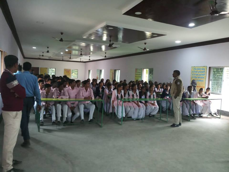 Today on 21.1.19 organised an School interaction programme by Muchipara TG at Nepali Para Hindi High School.