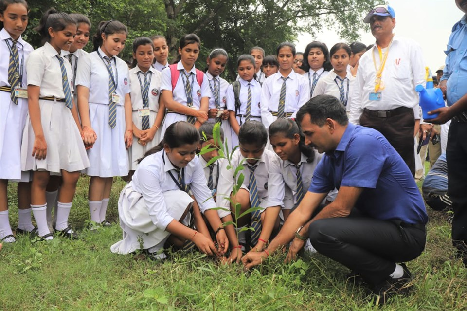 On 16.08.19 a Tree Plantation Programme Organised by Kulti PS and Kulti Traffic Guard jointly at