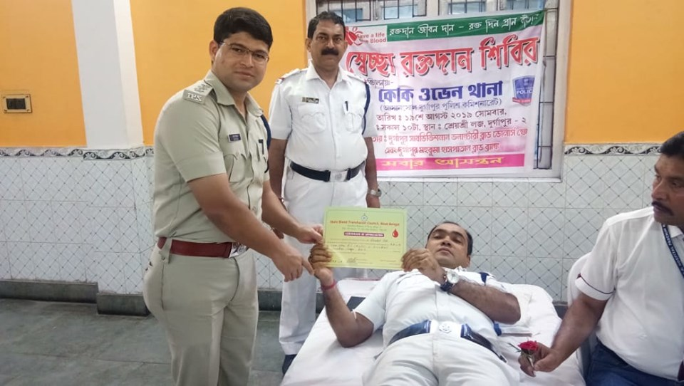 On 19.08.19 A Blood Donation Camp Organized by Coke Oven PS. In Presence of ACP (East), ADPC