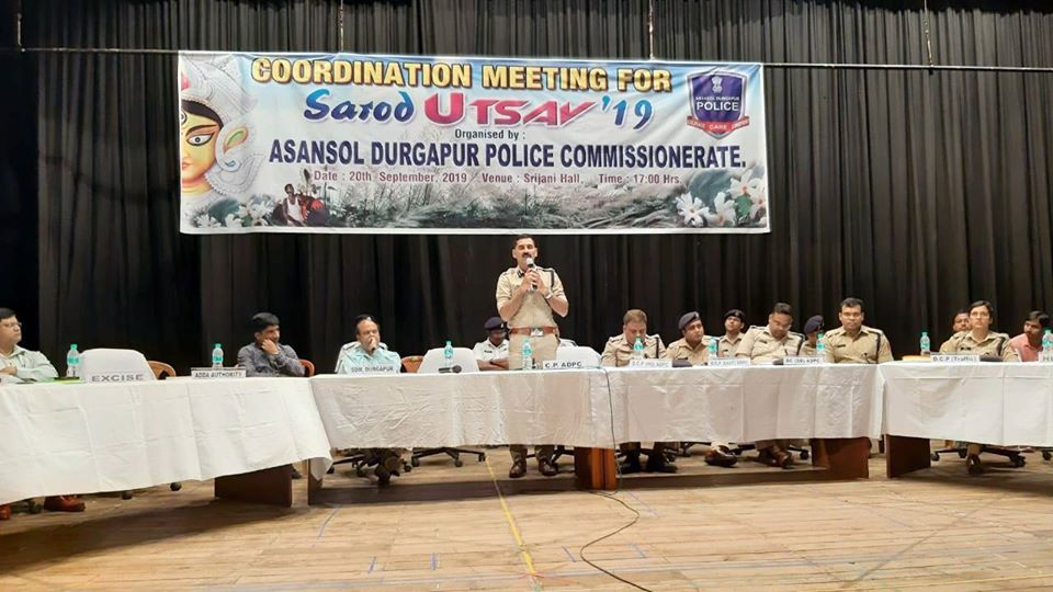Coordination Meeting for Sarod Utsav 2019 at Sriani Hall Durgapur on 20.09.19 organized by Asansol Durgapur Police Commissionerate