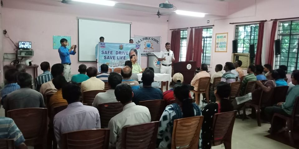 Today on 29.08.19 a Safe Drive Save Life awareness programme at SKS Public school under Raniganj PS Approx 125 students, Teachers with officers and staffs of Raniganj TG.and also 45 drivers are attend this programme. Aware them regarding Traffic rules and regulation.