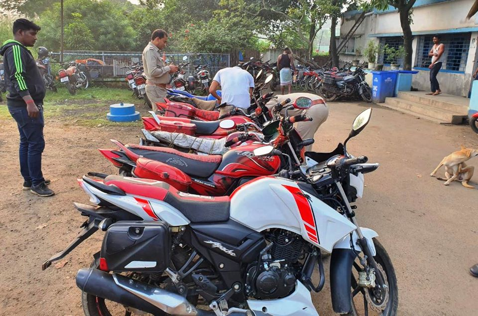 Notorious Motor Cycle Lifter and his associate arrested by Waria IC PS Durgapur ADPC and recovered 12 (7+5) numbers of Motor Cycle.