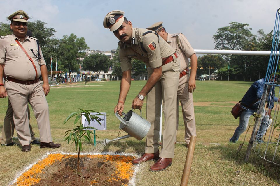 Tree Plantation Programme organized by Asansol Durgapur Police Commissionerate on 1st September 2019.