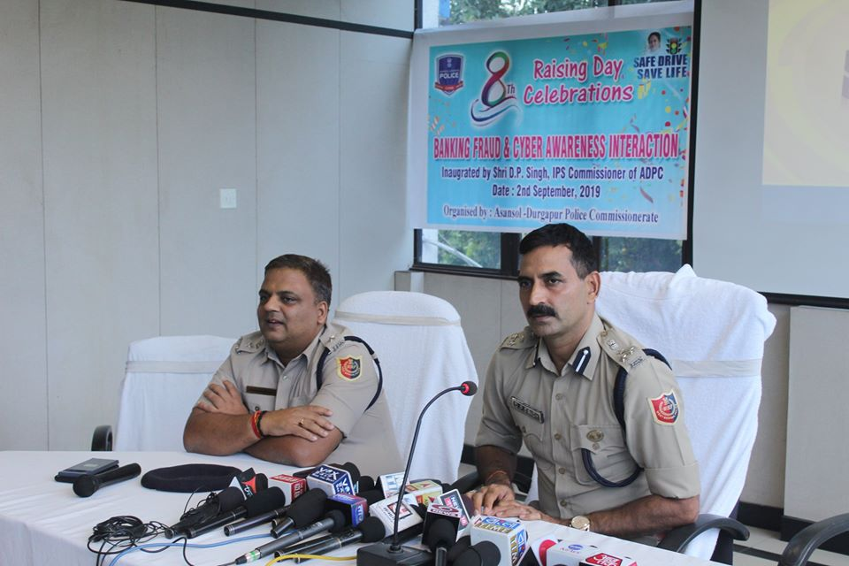 Today on 02.09.2019 a Banking Fraud & Cyber awareness Interaction programme organized by Asansol Durgapur Police with the support of HDFC Bank at Police Office Conference Hall Inaugurated by Shri D.P. Singh, IPS Commissioner of Police on the Eve of 8th Raising Day Celebrations.
