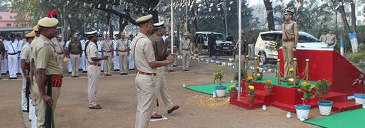 ASANSOL-DURGAPUR POLICE COMMISSIONERATE WEST BENGAL GOVERMENT 71th Republic Day Celebrations at Commissioner Office Asansol.