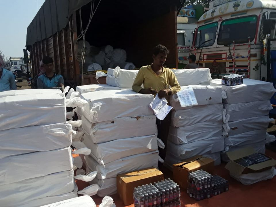 On 28.11.19 Kanksa PS seized 12900 bottles of Phensydryl from a Truck total valuation around 20 lakhs