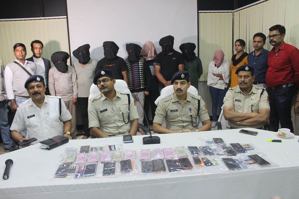 Inter State ATM Fraud Gang detected by Cyber Crime PS ADPC arrested 12 Persons and Seized 19 Mobile Phone, 02 High end Motor Bikes, one Mahindra XUV- 300 car, one Renult Kwid Climber Car, Cash Rupees more than 16 lakhs, Laptop, ATM Cards, Fake Voter Card, Aadhar Card, PAN Card, Fake SIM Cards.