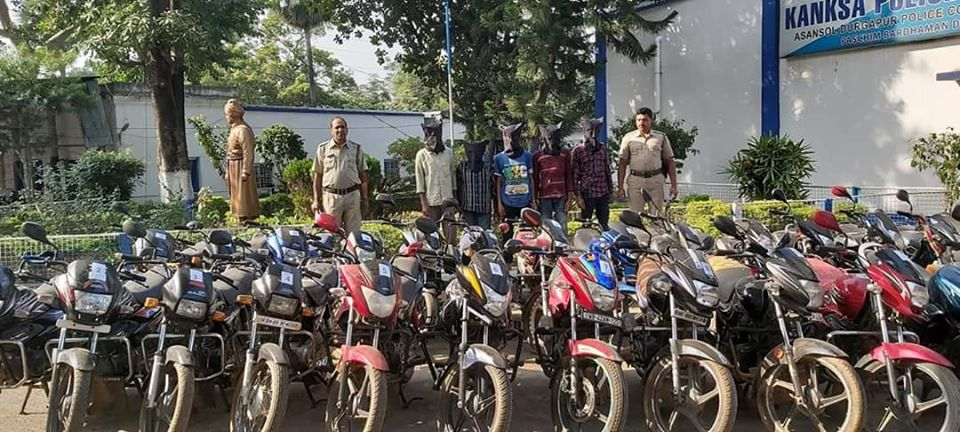 32 Stolen Motor Cycle has been recovered by Kanksa PS . 05 Arrested.