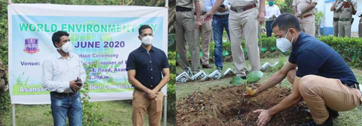 ASANSOL-DURGAPUR POLICE COMMISSIONERATE WEST BENGAL GOVERMENT World Environment Day 05.06.2020