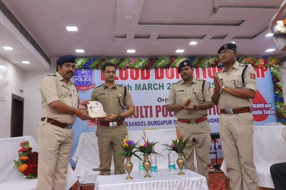On 05.03.2020 a Blood Donation Camp in presence of Hon'ble Commissioner of Police Asansol-Durgapur, DCP West, ACP West and other dignitaries organised by Kulti PS. Total 202 Donors were donate Blood.