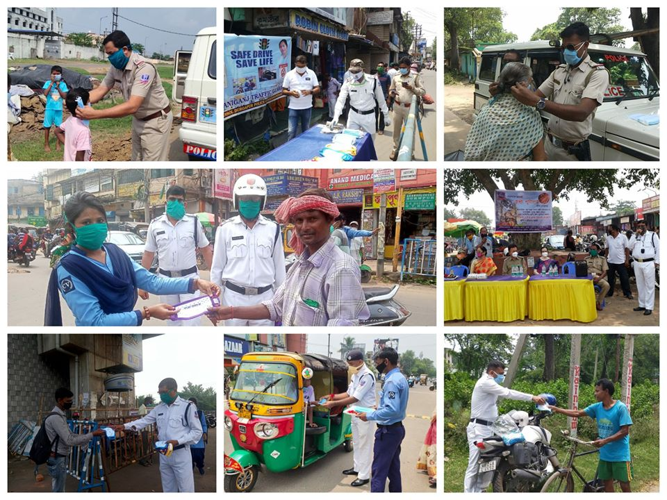 Distribution of Mask by Different Units of ADPC on the Occasion of Raksha Bandhan Festival on 03.08.2020.