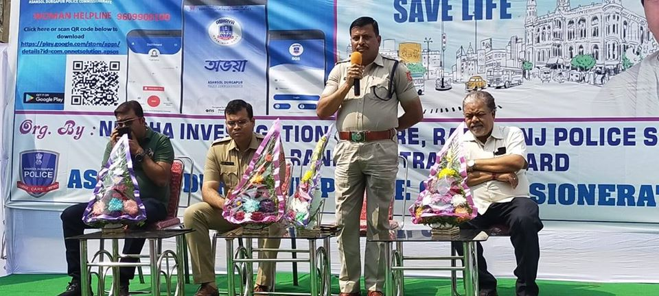 On 04.03.2020 Health Checkup Camp and Safe Drive Save Life campaigning programme at JK Nagar Bus Stand undar Raniganj PS.