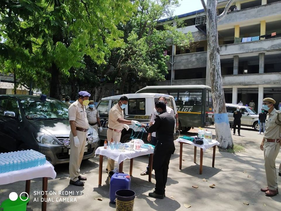 Sanitizer and Marks distribution at Asansol Police Lines