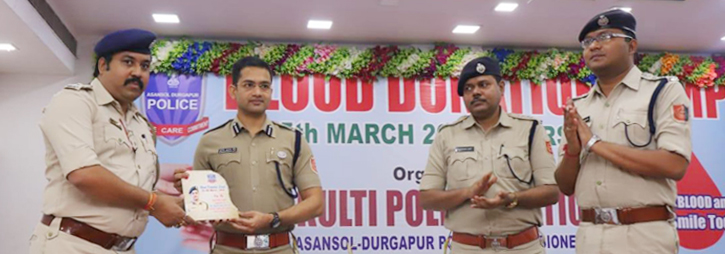 ASANSOL-DURGAPUR POLICE COMMISSIONERATE WEST BENGAL GOVERMENT BLOOD DONATION AT KULTI PS copy
