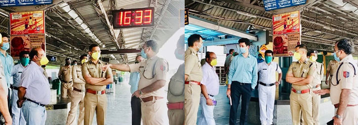 ASANSOL-DURGAPUR POLICE COMMISSIONERATE WEST BENGAL GOVERMENT Durgapur Railway Station Visit during COVID19