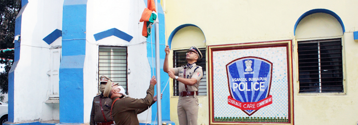 ASANSOL-DURGAPUR POLICE COMMISSIONERATE WEST BENGAL GOVERMENT 72th Republic Day Celebrations at Commissioner Office Asansol.